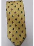 Robert Talbott Golden With Blue And Pink Small Flowers 7 Fold Sudbury Tie 321123-57|Sam's Tailoring Fine Men's Clothing
