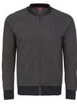 Stone Rose Black Birdseye Wrinkle resistant Knit Bomber  T58221|Sam's Tailoring Fine Men's Clothing