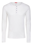Stone Rose White Melange Wrinkle resistant Knit Henley T48221|Sam's Tailoring Fine Men's Clothing