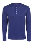 Stone Rose Blue Melange Wrinkle resistant Knit Henley T48221|Sam's Tailoring Fine Men's Clothing