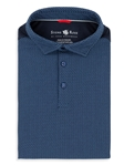 Stone Rose Navy Short Sleeve Chevron Print Polo T-Shirt T37166|Sam's Tailoring Fine Men's Clothing
