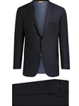 Navy Minicheck Super 130s Fabric Traveler Men Suit | Hickey Freeman Suit's Collection | Sam's Tailoring Fine Men Clothing