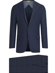 Blue Birdseye Windowpane Cashmere Blend Suit | Hickey Freeman Suit's Collection | Sam's Tailoring Fine Men Clothing