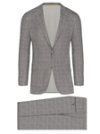 Black/White Plaid Tasmanian Stretch Wool Fall Suit | Hickey Freeman Suit's Collection | Sam's Tailoring Fine Men Clothing