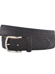Black Pebbled Solid Calf Suede Belt | Bobby Jones Fall Collection | Sam's Tailoring Fine Men Clothing
