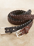 Black Braided Calf Leather Men Belt | Bobby Jones Fall Collection | Sam's Tailoring Fine Men Clothing
