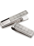M-Clip Stainless Steel Etched Herringbone Money Clip | Bobby Jones Fall Collection | Sam's Tailoring Fine Men Clothing