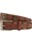 Brown Patchwork Lizard And Alligator Belt | Bobby Jones Fall Collection | Sam's Tailoring Fine Men Clothing