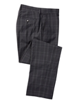 Black XH2O Windowpane Stretch Tech Pant | Bobby Jones Fall Collection | Sam's Tailoring Fine Men Clothing