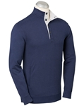 Navy Clubhouse Button Placket Pima Pullover | Bobby Jones Sweaters Pullovers Collection | Sams Tailoring Fine Men Clothing