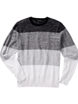 Black Ombre Wool Crew Neck Sweater | Bobby Jones Sweaters Pullovers Collection | Sams Tailoring Fine Men Clothing