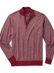 Cranberry Fine Line Wool Quarter Zip Pullover | Bobby Jones Sweaters Pullovers Collection | Sams Tailoring Fine Men Clothing
