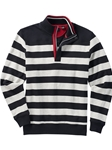 Black Brushed Stripe Quarter Zip Men Pullover | Bobby Jones Sweaters Pullovers Collection | Sams Tailoring Fine Men Clothing