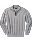 Heather Grey Holden Quarter Zip Pullover Sweater | Bobby Jones Sweaters Pullovers Collection | Sams Tailoring Fine Men Clothing