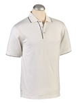 White Solid Mercerized Cotton Short Sleeve Polo | Bobby Jones Polos Collection | Sam's Tailoring Fine Men Clothing