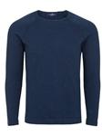 Navy Heather Knit Cotton Men Sweater | Stone Rose Sweaters Collection | Sams Tailoring Fine Men Clothing