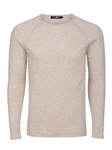 Ivory Heather Knit Cotton Men Sweater | Stone Rose Sweaters Collection | Sams Tailoring Fine Men Clothing