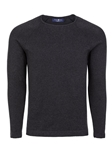 Gray Heather Knit Cotton Men Sweater | Stone Rose Sweaters Collection | Sams Tailoring Fine Men Clothing