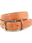 Cognac Oiled Pull Up South American Caimen Belt | Torino leather Fine Belts | Sam's Tailoring Fine Men Clothing