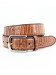 Brown Oiled Pull Up South American Caimen Belt | Torino leather Fine Belts | Sam's Tailoring Fine Men Clothing