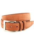 Walnut Italian Sueded Calfskin Men Belt | Torino leather Fine Belts | Sam's Tailoring Fine Men Clothing