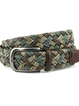 Brown/Taupe Italian Braded Multi Colored Melange Cotton Belt | Torino leather Fine Belts | Sam's Tailoring Fine Men Clothing