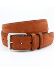 Walnut European Sueded Calfskin Belt | Torino leather Fine Belts | Sam's Tailoring Fine Men Clothing