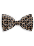 Black and Orange Sartorial Handmade Silk Bow Tie | Bow Ties Collection | Sam's Tailoring Fine Men Clothing