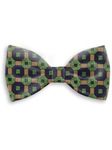 Green, Tan & Navy Sartorial Handmade Silk Bow Tie | Bow Ties Collection | Sam's Tailoring Fine Men Clothing