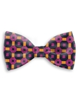 Navy, Violet & Orange Sartorial Handmade Silk Bow Tie | Bow Ties Collection | Sam's Tailoring Fine Men Clothing