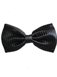 Black Vertical Pleats Sartorial Silk Bow Tie | Bow Ties Collection | Sam's Tailoring Fine Men Clothing