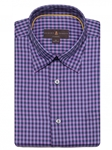 Aster, Navy & Sky Plaid Anderson II Classic Sport Shirt | Sport Shirts Collection | Sams Tailoring Fine Men Clothing