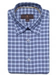 Blue Plaid Anderson II Classic Fit Sport Shirt | Classic Sport Shirts Collection | Sams Tailoring Fine Men Clothing