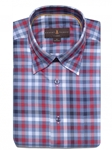 Cornel, Blue, and White Plaid Anderson II Classic Sport Shirt | Classic Sport Shirts Collection | Sams Tailoring Fine Men Clothing