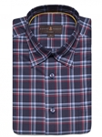 Cardinal and Navy Plaid Anderson II Classic Sport ShirtBrown, Blue & Green Plaid Anderson II Sport Shirt | Classic Sport Shirts Collection | Sams Tailoring Fine Men Clothing