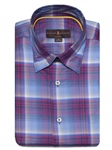 Mauve, White, and Blue Plaid Anderson II Classic Sport ShirtBrown, Blue & Green Plaid Anderson II Sport Shirt | Classic Sport Shirts Collection | Sams Tailoring Fine Men Clothing