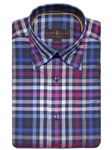 Lapis, Red, and White Plaid Anderson II Classic Sport ShirtBrown, Blue & Green Plaid Anderson II Sport Shirt | Classic Sport Shirts Collection | Sams Tailoring Fine Men Clothing