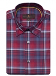 Chili, Navy, and White Plaid Anderson II Classic Sport ShirtBrown, Blue & Green Plaid Anderson II Sport Shirt | Classic Sport Shirts Collection | Sams Tailoring Fine Men Clothing