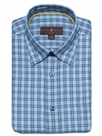 Turquoise Plaid Anderson II Classic Fit Sport ShirtBrown, Blue & Green Plaid Anderson II Sport Shirt | Classic Sport Shirts Collection | Sams Tailoring Fine Men Clothing
