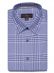 Pacific, Cedar & Sky Plaid Anderson II Classic Sport ShirtBrown, Blue & Green Plaid Anderson II Sport Shirt | Classic Sport Shirts Collection | Sams Tailoring Fine Men Clothing