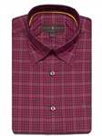 Brick and Black Plaid Anderson II Classic Sport Shirt | Classic Sport Shirts Collection | Sams Tailoring Fine Men Clothing