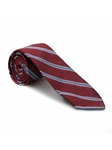 Ruby Geometric Print with Blue Stripes 7 Fold Tie | Seven Fold Ties Collection | Sam's Tailoring Fine Men Clothing