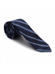 Navy and Blue Stripe Sudbury 7 Fold Tie | Seven Fold Ties Collection | Sam's Tailoring Fine Men Clothing