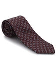 Burgundy with Blue Neat Ambassador Print Estate Tie | Robert Talbott Estate Ties Collection | Sam's Tailoring Fine Men Clothing