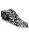 Brown & Blue Medallion Ambassador Print Estate Tie | Robert Talbott Estate Ties Collection | Sam's Tailoring Fine Men Clothing