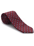 Sky, Brown & Red Ambassador Print Estate Tie | Robert Talbott Estate Ties Collection | Sam's Tailoring Fine Men Clothing