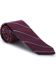 Wine and Blue Stripe Ambassador Estate Tie | Robert Talbott Estate Ties Collection | Sam's Tailoring Fine Men Clothing