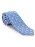 Sky, Pink and White Floral Best of Class Tie | Best of Class Collection | Sam's Tailoring Fine Men's Clothing