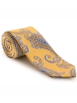 Yellow, Grey & Blue Paisley Best of Class Tie | Best of Class Collection | Sam's Tailoring Fine Men's Clothing