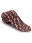 Multi Colored on Black Background Best of Class Tie | Best of Class Collection | Sam's Tailoring Fine Men's Clothing